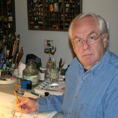 Doug Gillette in his studio